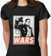 Frank West Wars Obey Design Womens Fitted T-Shirt