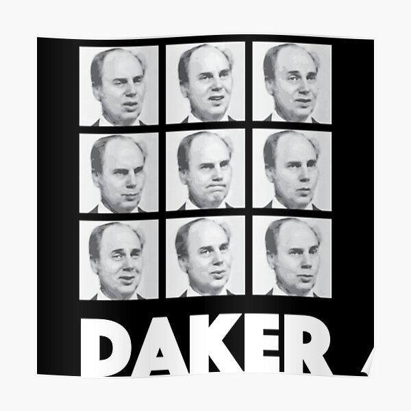 My name is John Daker Shirt Poster
