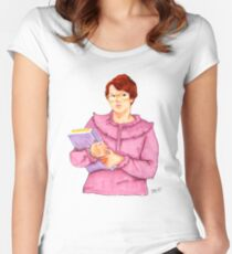 Barb from Stranger Things Portrait Women's Fitted Scoop T-Shirt