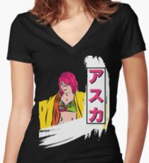 Triple Tail Women's Fitted V-Neck T-Shirt