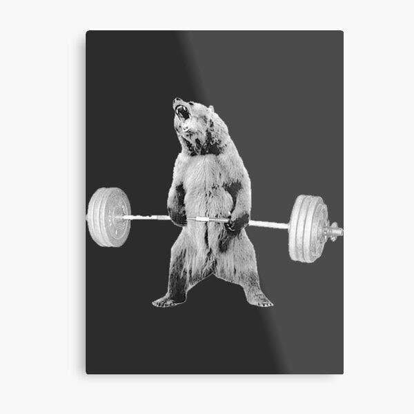 Bear Deadlift  | Gift Perfect Metal Print