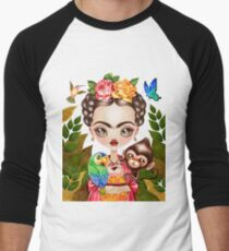 Frida Querida Men's Baseball ¾ T-Shirt
