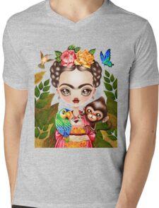 Frida Querida Mens V-Neck T-Shirt