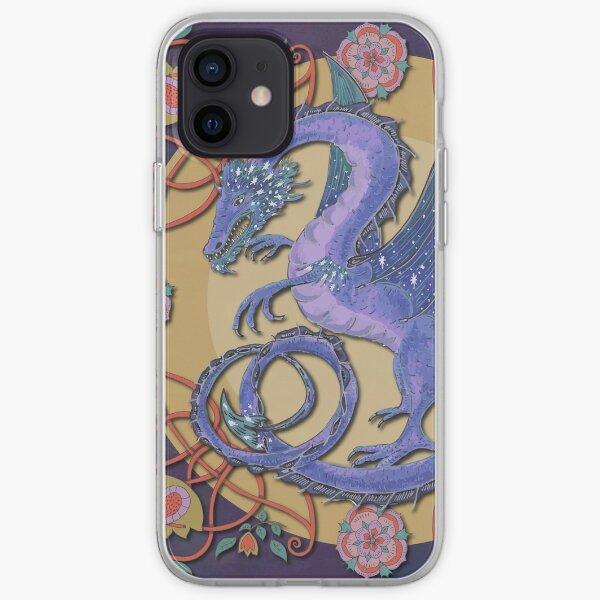 Celtic Medieval Celestial Sky Dragon iPhone Soft Case