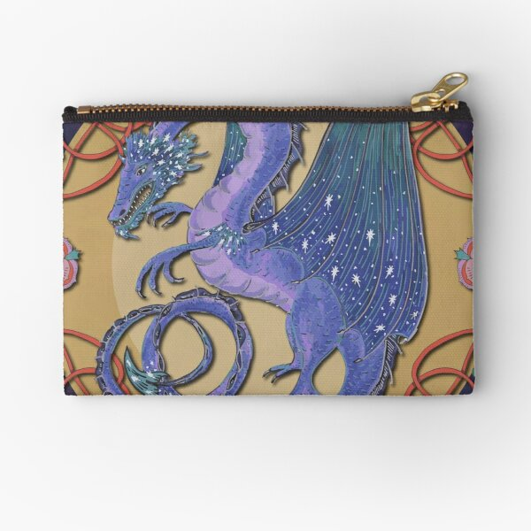 Celtic Medieval Celestial Sky Dragon Zipper Pouch