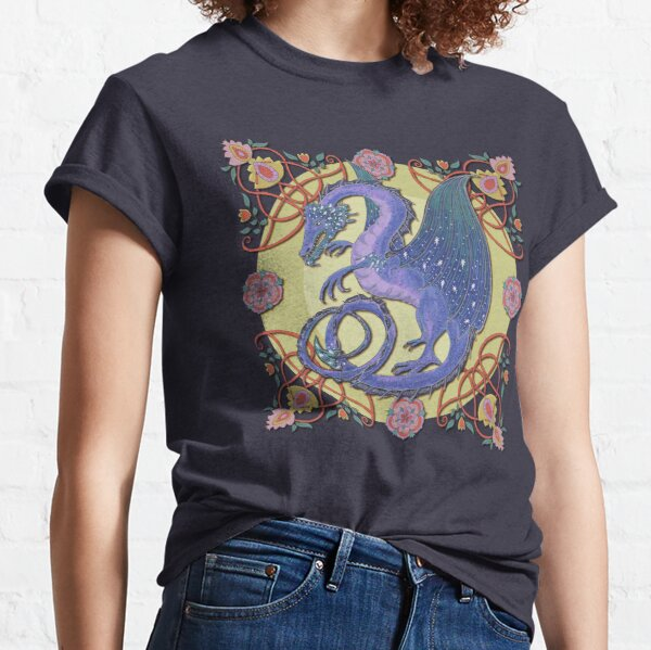 Celtic Medieval Celestial Sky Dragon Classic T-Shirt