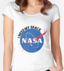 NASA- I Need My Space Women's Fitted Scoop T-Shirt