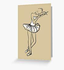 sketch of girl's ballerina  Greeting Card
