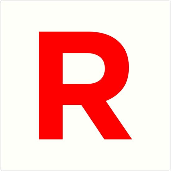 team rocket pokemon logo art prints by cemepak redbubble