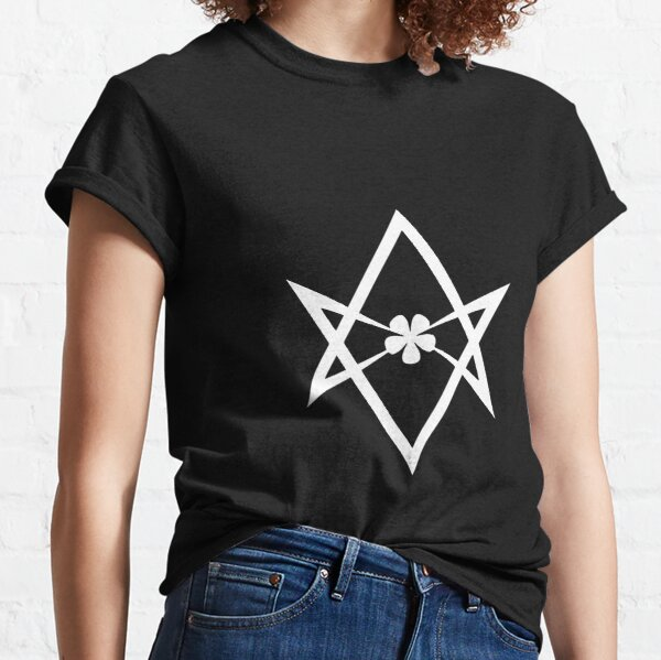 Aleister Crowley - DO WHAT THOU WILT SHALL BE THE WHOLE OF THE LAW - Occult - Thelema (White On Black) Classic T-Shirt