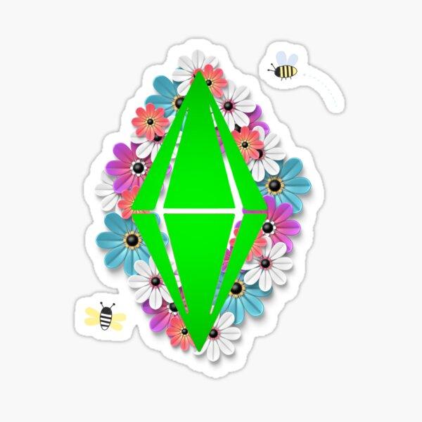 Diamond Amongst Flowers Sticker