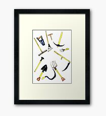 Garden Equipment Sketch Framed Print