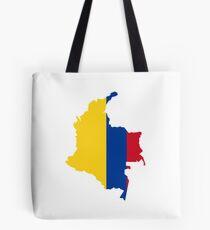 Carte du drapeau de la Colombie Tote bag