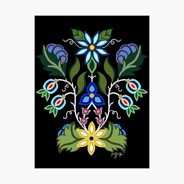 Ojibwe Floral Photographic Print