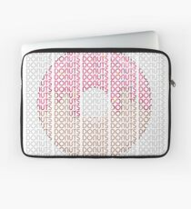 Donuts in Text  Laptop Sleeve