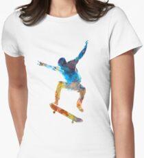 Man skateboard 01 in watercolor T-Shirt