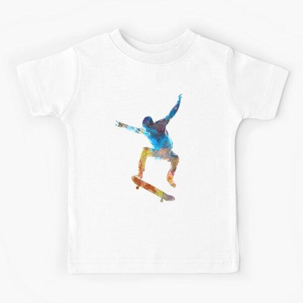 Man skateboard 01 in watercolor Kids T-Shirt