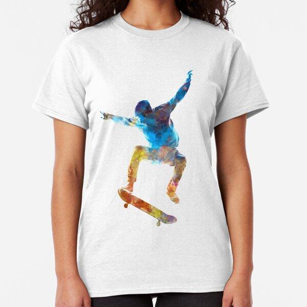 Man skateboard 01 in watercolor Classic T-Shirt
