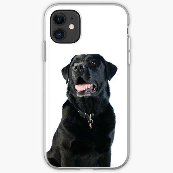 Black Labrador retriever iPhone Soft Case