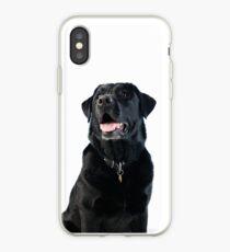Black Labrador retriever iPhone Case