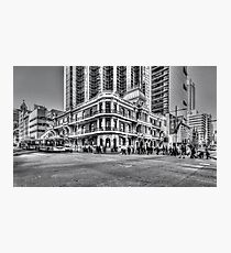 City of Perth - lunch rush hour Photographic Print