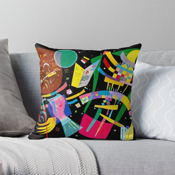 Kandinsky Composition X, 1939 Artwork Reproduction, Design for Posters, Prints, Tshirts, Men, Women, Kids, Youth Throw Pillow