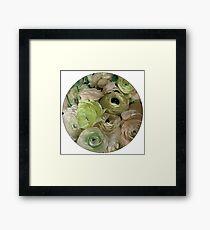 Flowers for Ellie - Pastel Green Framed Print