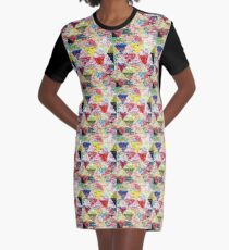 rag rug Scarf Graphic T-Shirt Dress