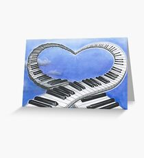 The Music of Love  Greeting Card