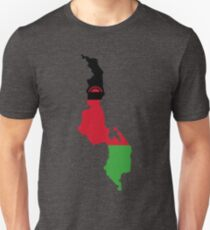 Malawi Flag Map T-Shirt