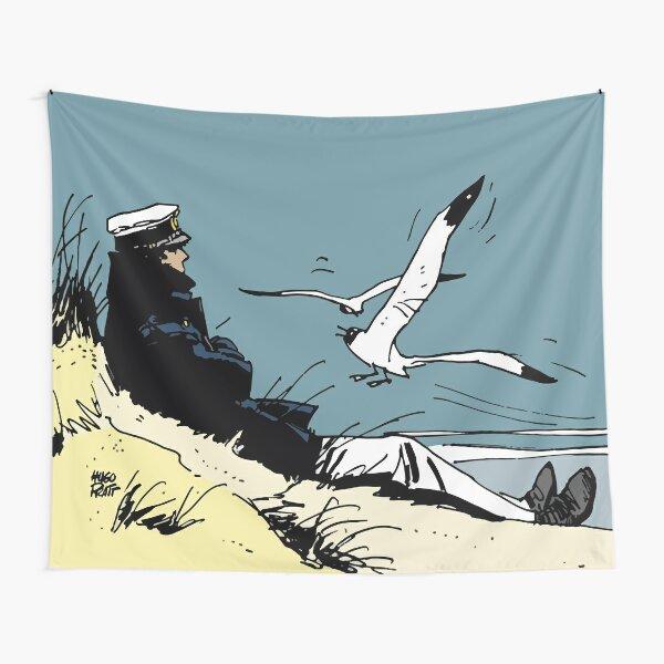 Corto Maltese on the shore Tapestry