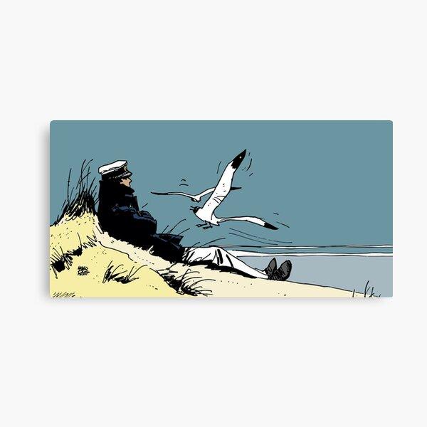 Corto Maltese on the shore Canvas Print