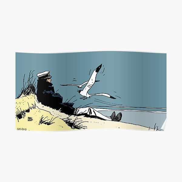 Corto Maltese on the shore Poster