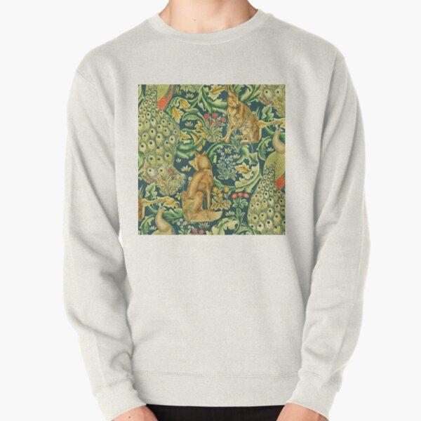 William Morris standen forest -teal Pullover Sweatshirt