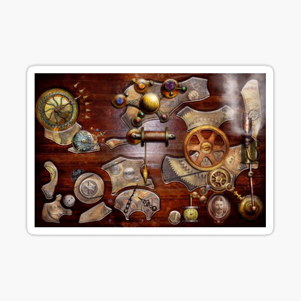 Steampunk - Gears - Reverse engineering Sticker