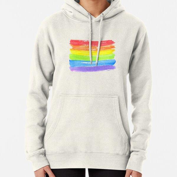 LGBT parade flag, gay pride symbol Pullover Hoodie