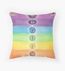 Chakra Healing Throw Pillow