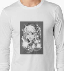 Legend Of Zelda Tattoo B&W Long Sleeve T-Shirt