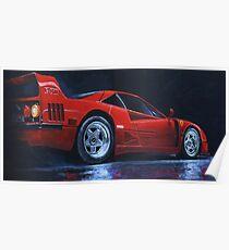 1990 Ferrari F40  Poster