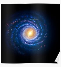 Milky Way - You Are Here Poster