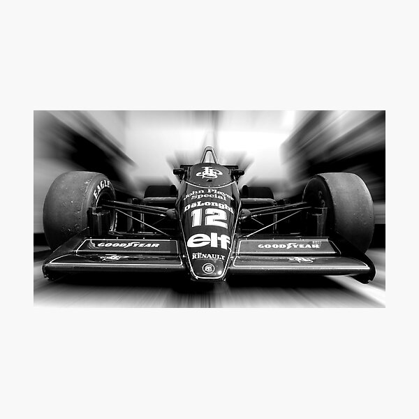 Ayrton Senna (Black & White) Photographic Print