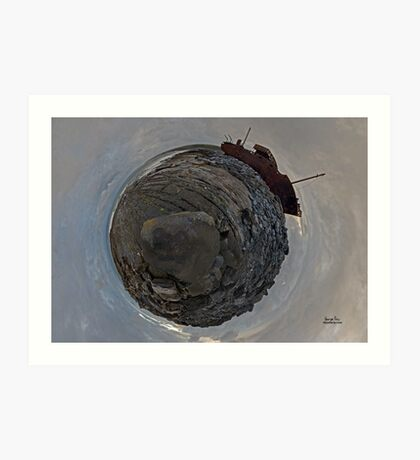 Shipwreck on Inisheer: The Plassey Wreck Art Print