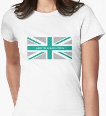Lewis Hamilton (Team colours) Women's Fitted T-Shirt