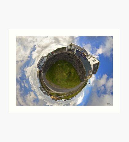 Tigh Ruairi - Inisheer Village (Sky out)  Art Print