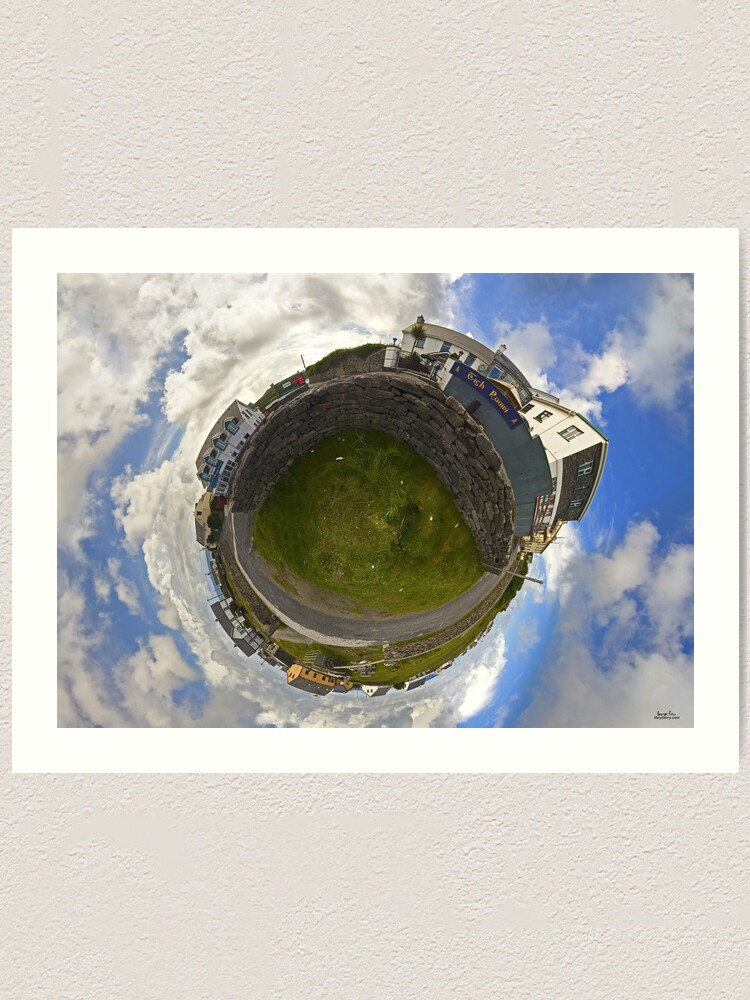 Alternate view of Tigh Ruairi - Inisheer Village (Sky out)  Art Print