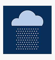 We love the rain! weather, cloud, water, autumn, spring, water, raindrop  Photographic Print