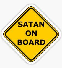Satan on Board Sticker