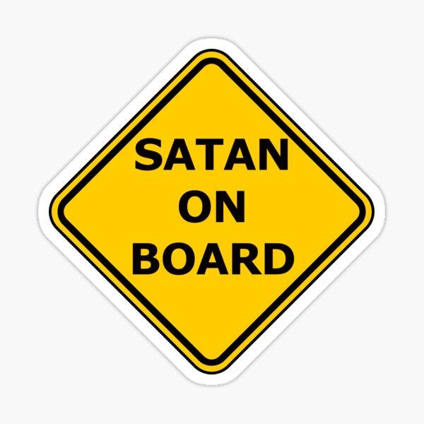 Satan an Bord Sticker