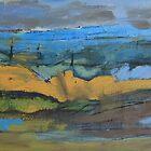 landscape blue by H J Field