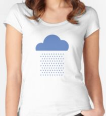 We love weather! rain, clouds, water, raindrop, spring, summer, autumn Women's Fitted Scoop T-Shirt